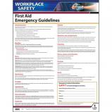First Aid Guidelines Instructional Chart / Poster