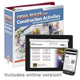 OSHA Rules for Construction Activities + Online Edition w/ 1-Year Update Service
