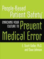 Enriching Your Culture To Prevent Medical Error (Manual)