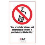 Cell Phones Prohibited - English