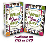 What do You Say? - DVD